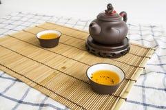 teapot τσαγιού κινεζική έννοια cha Oolong αργίλου αγγειοπλαστικής φλυτζανιών Στοκ Φωτογραφία