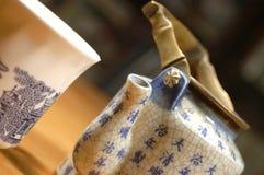 teapot φλυτζανιών της Κίνας Στοκ εικόνα με δικαίωμα ελεύθερης χρήσης