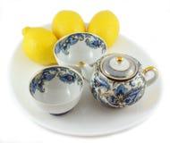 Teapot. Ceramic teapot on white background Royalty Free Stock Images