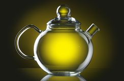 Teapot. On a smooth surface Royalty Free Stock Images