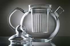 Teapot. On a smooth surface Royalty Free Stock Photos