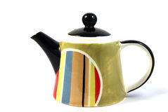 Teapot. Colourful teapot isolated on white Royalty Free Stock Photography