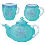 teapot φλυτζανιών Στοκ Φωτογραφίες