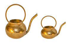 Teapot. Two old teapots:big and small,  isolated on the white background Royalty Free Stock Photography