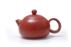 Teapot. Brown teapot on a white background Royalty Free Stock Photography