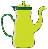 Teapot. Represent a green teapot illustration. Vector eps 8 file Stock Images