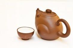 Teapot. Happy for tea time Stock Photos
