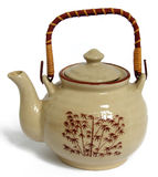 Teapot #3. Floriated brown teapot on white background Royalty Free Stock Images