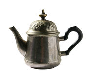 Teapot. Vintage rusty teapot, isolated on white background royalty free stock photos