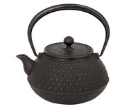 Teapot. Typical asian teapot on white background. With clipping path Stock Image
