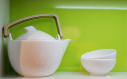 Teapot And Bowls Royalty Free Stock Image