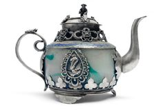 Teapot antigo Fotos de Stock