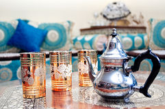 Teapot. In arabic living room Royalty Free Stock Photos