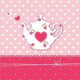 Teapot background Stock Image