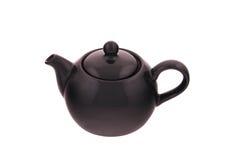 Teapot the black glossy Royalty Free Stock Photos