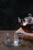 Teapot of black tea Royalty Free Stock Photos