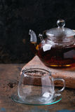 Teapot of black tea Stock Image