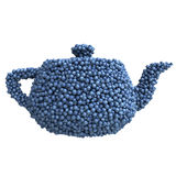 Teapot of blueberries Stock Image