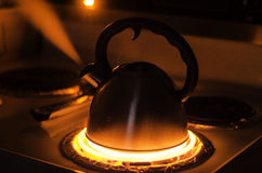 Teapot Boiling stock photo