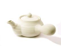 Teapot branco foto de stock royalty free