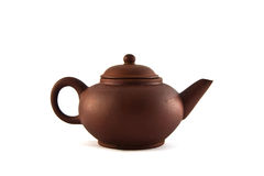Teapot  brown. Reddish-brown clay teapots in China Stock Photography