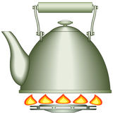 Teapot on burner Royalty Free Stock Photo