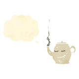 Teapot cartoon character Stock Image