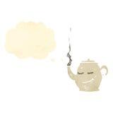 Teapot cartoon character Stock Image