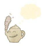 Teapot cartoon character Royalty Free Stock Image