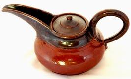 Teapot cerâmico Foto de Stock