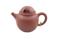 Teapot cerâmico de Brown Imagens de Stock