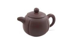 Teapot cerâmico de Brown Imagem de Stock Royalty Free