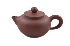 Teapot cerâmico de Brown com tampa Imagem de Stock