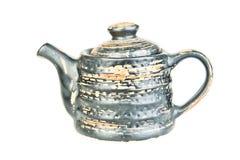 Teapot cerâmico de prata Foto de Stock Royalty Free
