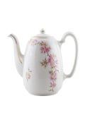 Teapot cerâmico do vintage, isolado. fotografia de stock royalty free