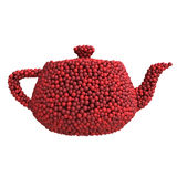 Teapot of cherries Royalty Free Stock Photography