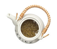 Teapot with chinese tea leaves Stock Image