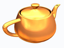 Teapot with clipping path. Wonderful detail of golden teapot with clipping path Royalty Free Stock Image