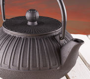 Teapot in close up Stock Photography