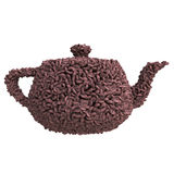 Teapot of coffee beans Stock Image