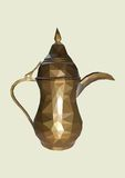 Teapot, colorful low poly mosaic of teapot Royalty Free Stock Images