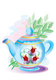 Teapot with colors Stock Photography
