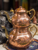 Teapot copper Stock Images
