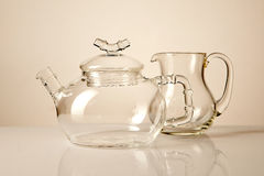 Teapot and creamer Stock Photos