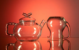 Teapot and creamer Stock Photo