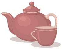 Teapot and cup Stock Image