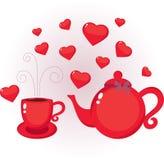 Teapot and cup Stock Photos