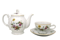 Teapot and cup Royalty Free Stock Images