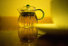 Teapot and Cup. Tea together with a friend Royalty Free Stock Photography