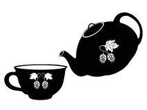 Teapot and cup Royalty Free Stock Photos
